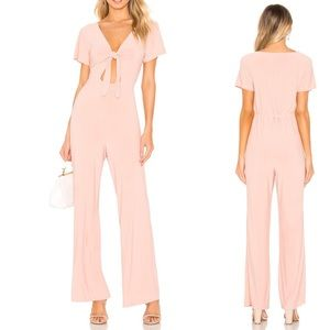 Tularosa • Mabella Front Tie Jumpsuit In Blush